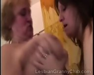 Mature Brunette Plays With A Big Stacked Redhead Granny