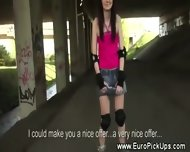 Real Euro Teen Amateur Shows Ass For Cash