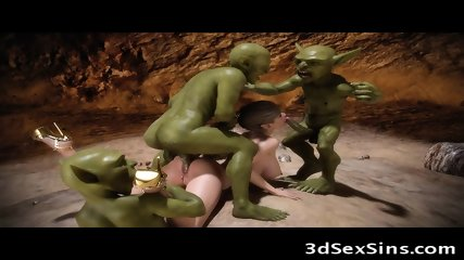 3D Girls Gangbanged by Creatures!
