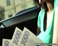 Real Euro Teen Shows Pussy In Public And Wants Cash