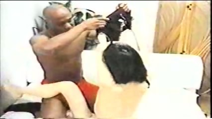 Asian chick and 2 black dudes - scene 5