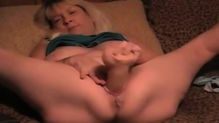 Mature Blonde Wife Takes Big Massive Dildo In Her Cunt - scene 7
