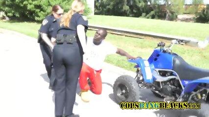 Slutty white female cops enjoy fucking their black suspects everytime.