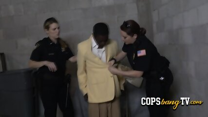 Horny MILF is geting her naughty pussy fucked by a criminal s black cock.