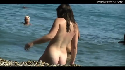 Big Ass Teens Spreading Naked At Nudist Beach - scene 4