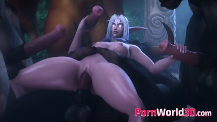 Night Elf from World of Warcraft Gets a Huge Cock