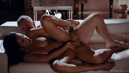 Intensive Sex On Couch