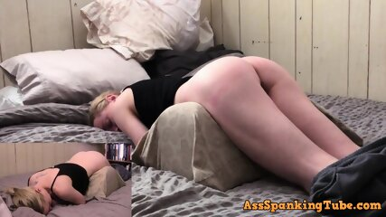 Bunny gets her little ass whipped for being bad BDSM Ass and Tummy Spanking