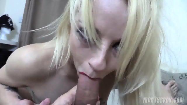 Naughty Blonde Takes Dick