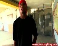 Black Thugs Amateur Rides White Dick Outdoors