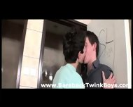 Very Sexy Smooth Gay Twinks In Deep Blowjob Throat Filling Action In Shower