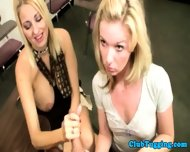 Handjob Loving Blondes Play With Cock - scene 9