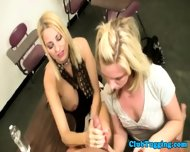 Handjob Loving Blondes Play With Cock - scene 10