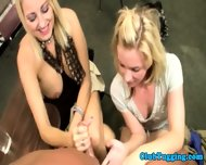 Handjob Loving Blondes Play With Cock - scene 11