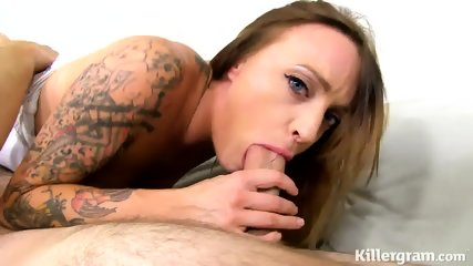 Tattooed Teen Takes Fat Cock - scene 3