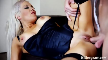 Elegant Slut Rides Her Customer's Dick