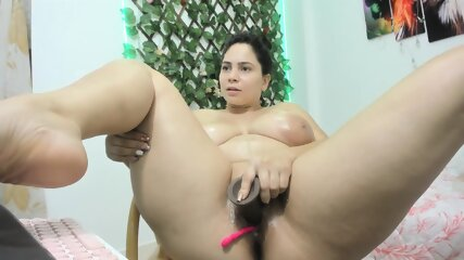 Colombian Girl Kaimx Vilezx (24) Hot Ass In Doggy & Dildoing Cream Pussy
