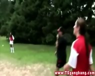 Tranny Soccer Team Fuck Coach After Win