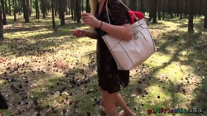 Lesbian Action In The Forest - scene 1