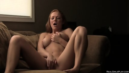 Amazing Redhead Plays With Pussy