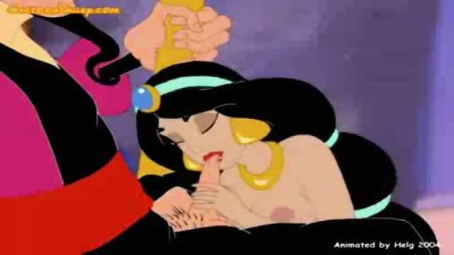 Princess Jasmine gets fucked by bad Wizard