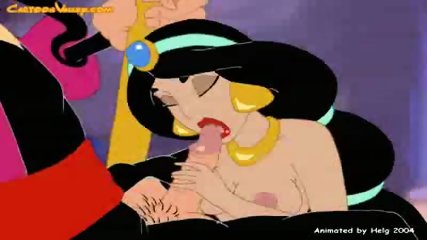 Princess Jasmine gets fucked by bad Wizard - scene 5