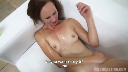Amateur Girl Plays With Dick At The Casting - scene 8