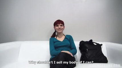 Redhead Amateur Rides Cock At The Casting - scene 3