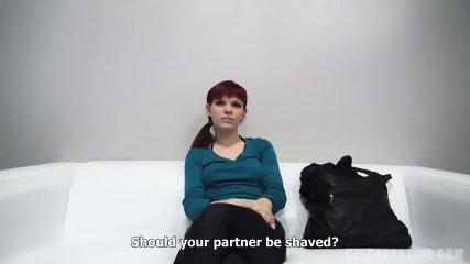 Redhead Amateur Rides Cock At The Casting - scene 4