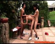 Gay Latin Barebacking Group Fun Outdoors - scene 2