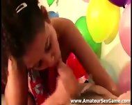 Cock Sucking Amateurs In Party Game Group - scene 5