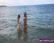 Dude Was Able To Fuck To Of Her Sexy Friends At The Beach - scene 2