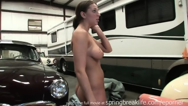 Getting Naked At A Garage