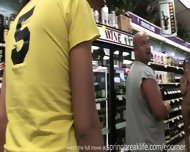 Naked And Pee In Liquor Store - scene 6