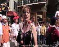 Hotel Room Referee And Mardi Gras Flashers.mp4 - scene 8