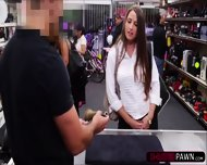 Sexy Cooz Selling A Stolen Old Bugle Gets Fucked By Shop Owner - scene 1