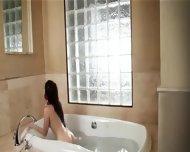 Brunette Toying Her Pussy In Bathroom - scene 2