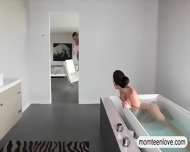 Milf Punished Her Stepson For Sneaking On Her In The Bathtub - scene 2