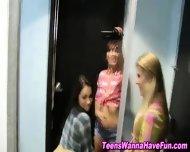 Lesbian Teens Public Kiss - scene 8