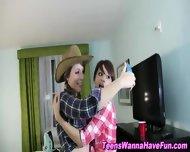 Lesbian Teens Public Kiss - scene 9