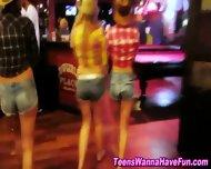 Lesbian Teens Public Kiss - scene 10