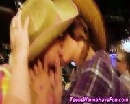 Lesbian Teens Public Kiss - scene 12