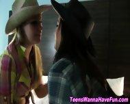 Lesbian Teens Public Kiss - scene 5