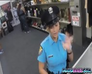 Lady Officer And The Pawnman's Pistol In Her Pussy - scene 1