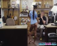 Lady Officer And The Pawnman's Pistol In Her Pussy - scene 4