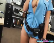 Lady Officer And The Pawnman's Pistol In Her Pussy - scene 5