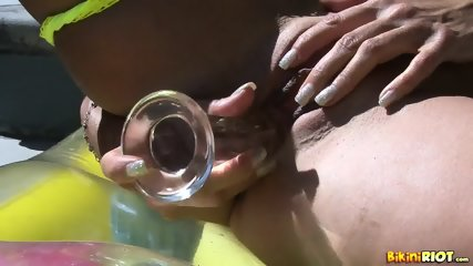 Busty Babe With Bikini In Solo Action - scene 8