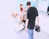Two Girlsongirls Having Fun Before Cam - scene 12
