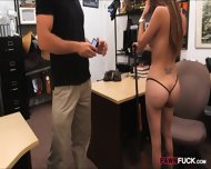 Busty Biatch Pawns Her Sweet Pussy At The Pawnshop For Money - scene 6