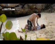 Divinely Hot Lovers Sex On The Beach - scene 1
